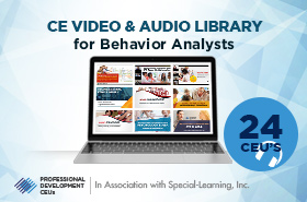 ce video audio library For Behavior Analysts